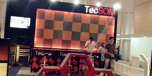 Jasa Pembuatan Booth Tecsom Flooring Indonesia